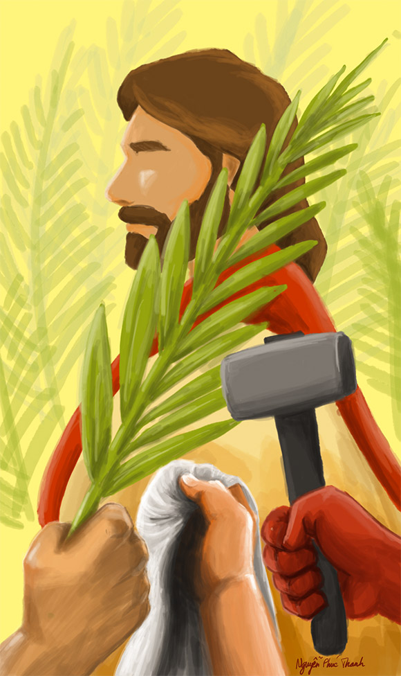 Palm Sunday emotional picture