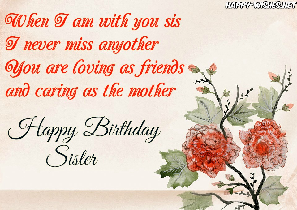 Happy Birthday Quotes for Dear Sister
