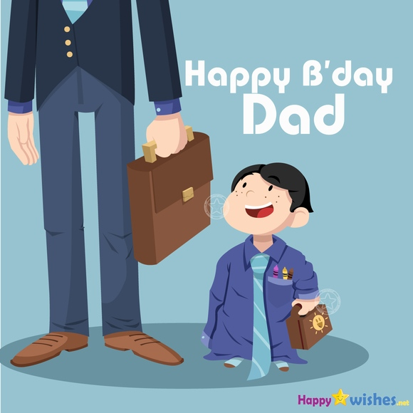 Happy Birthday dad from son image