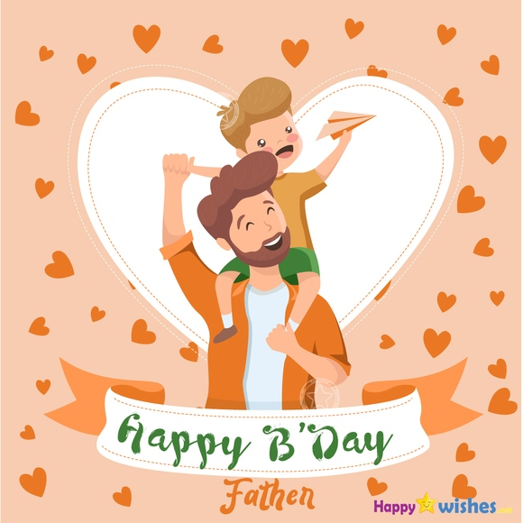 Happy Birthday father wishes image