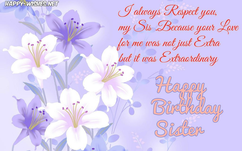 Magnificent Happy Birthday Wishes For Sister Quotes Images And Memes Personalised Birthday Cards Paralily Jamesorg