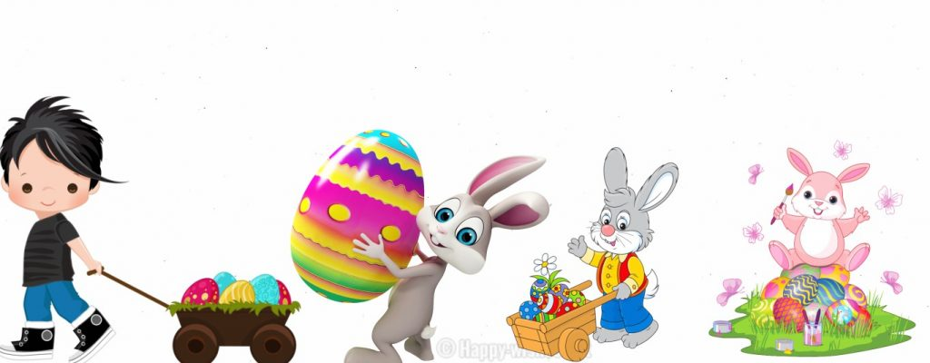 Happy Easter Bunny Clip arts Images collection
