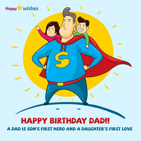 Happy birthday dad from son and daughter