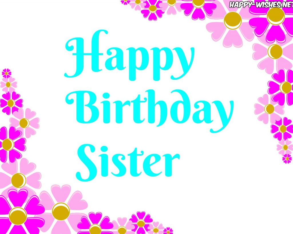 Lovely Happy Birthday sister images