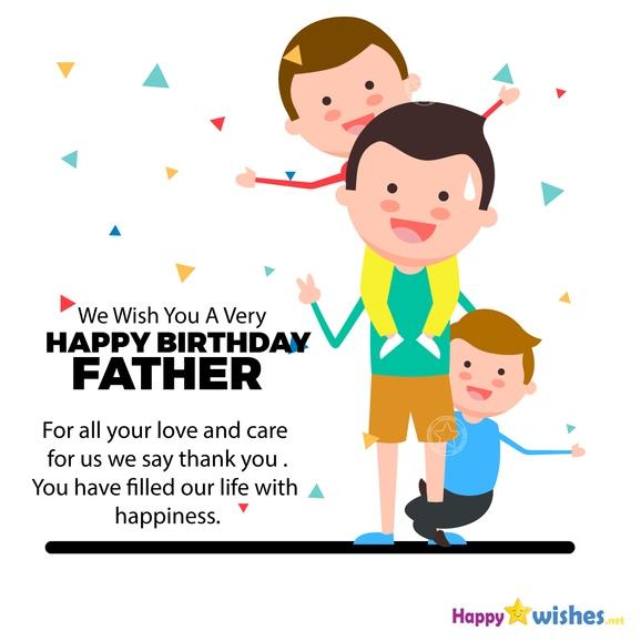 Wish you a very happy birthday father