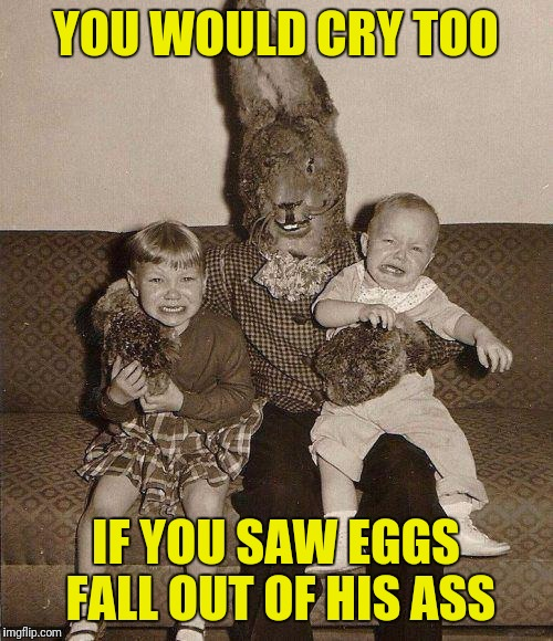 creepy eggs easter meme