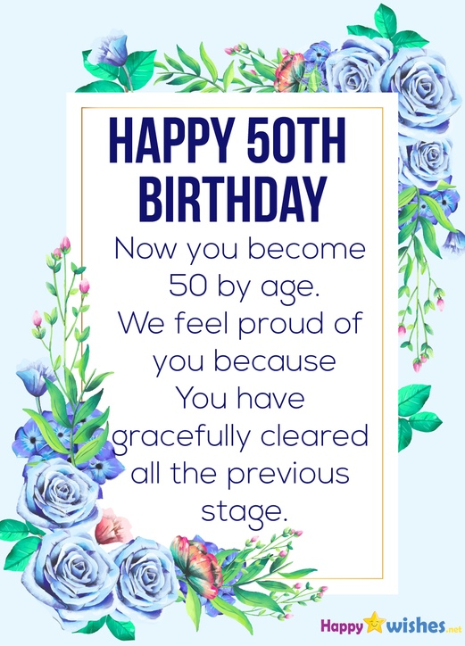 50th Birthday inspirational quotes