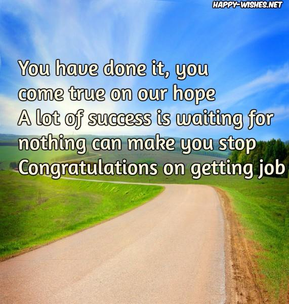 Congratulation on New Job - Quotes and Messages [Best wishes]