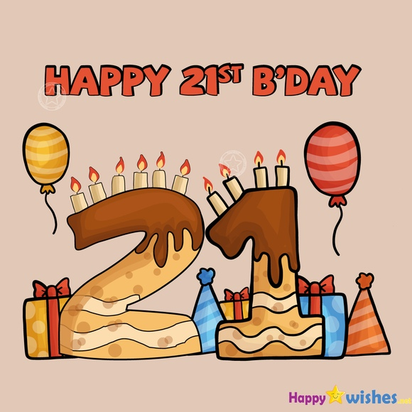 Happy 21st Birthday image for daughter or niece