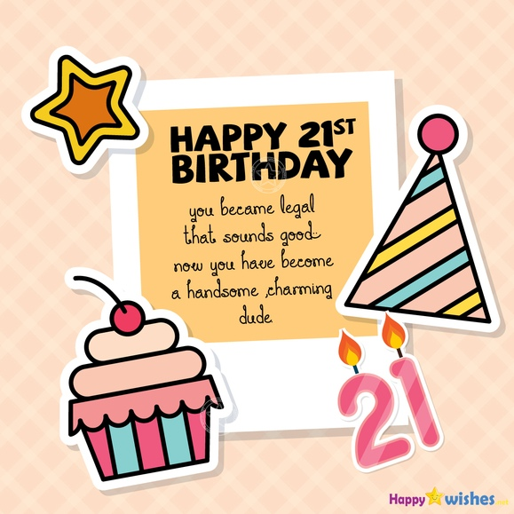 Happy 21st Birthday Wishes - Quotes, Images & Meme