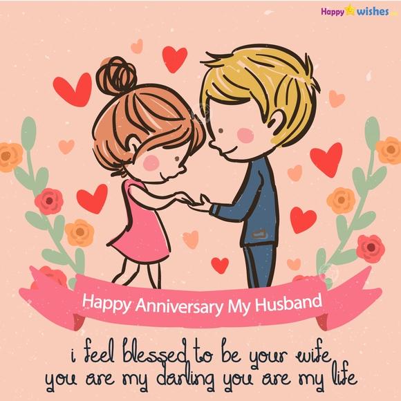 Happy Anniversary Wishes to My Husband