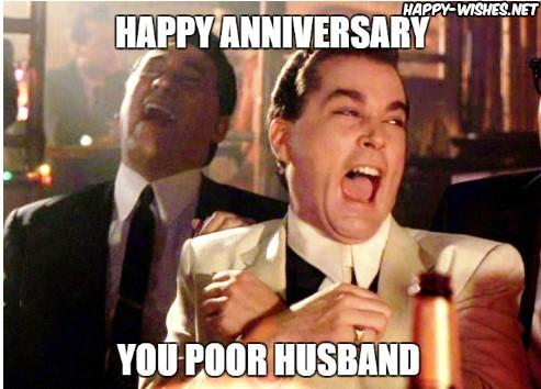 Happy Anniversary meme for Poor husband