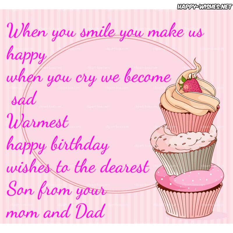 Tremendous Happy Birthday Wishes For Son Quotes Messages Funny Birthday Cards Online Alyptdamsfinfo
