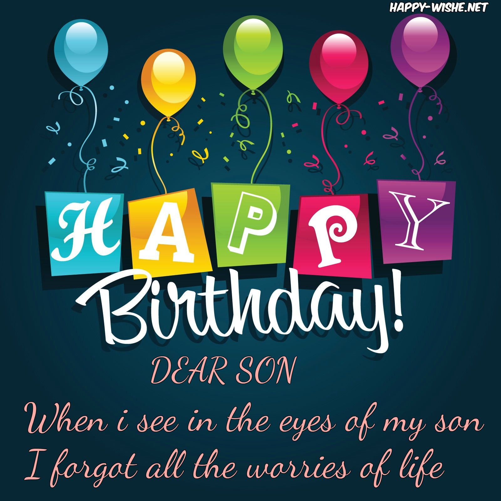 Pleasant Happy Birthday Wishes For Son Quotes Messages Funny Birthday Cards Online Alyptdamsfinfo
