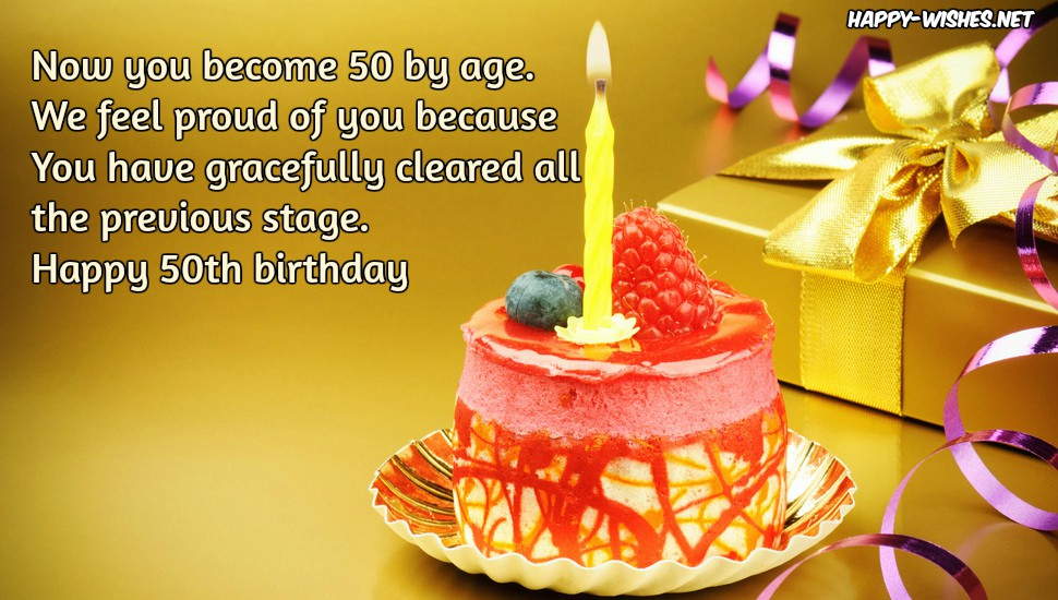 Happy 50th Birthday wishes - Quotes & images