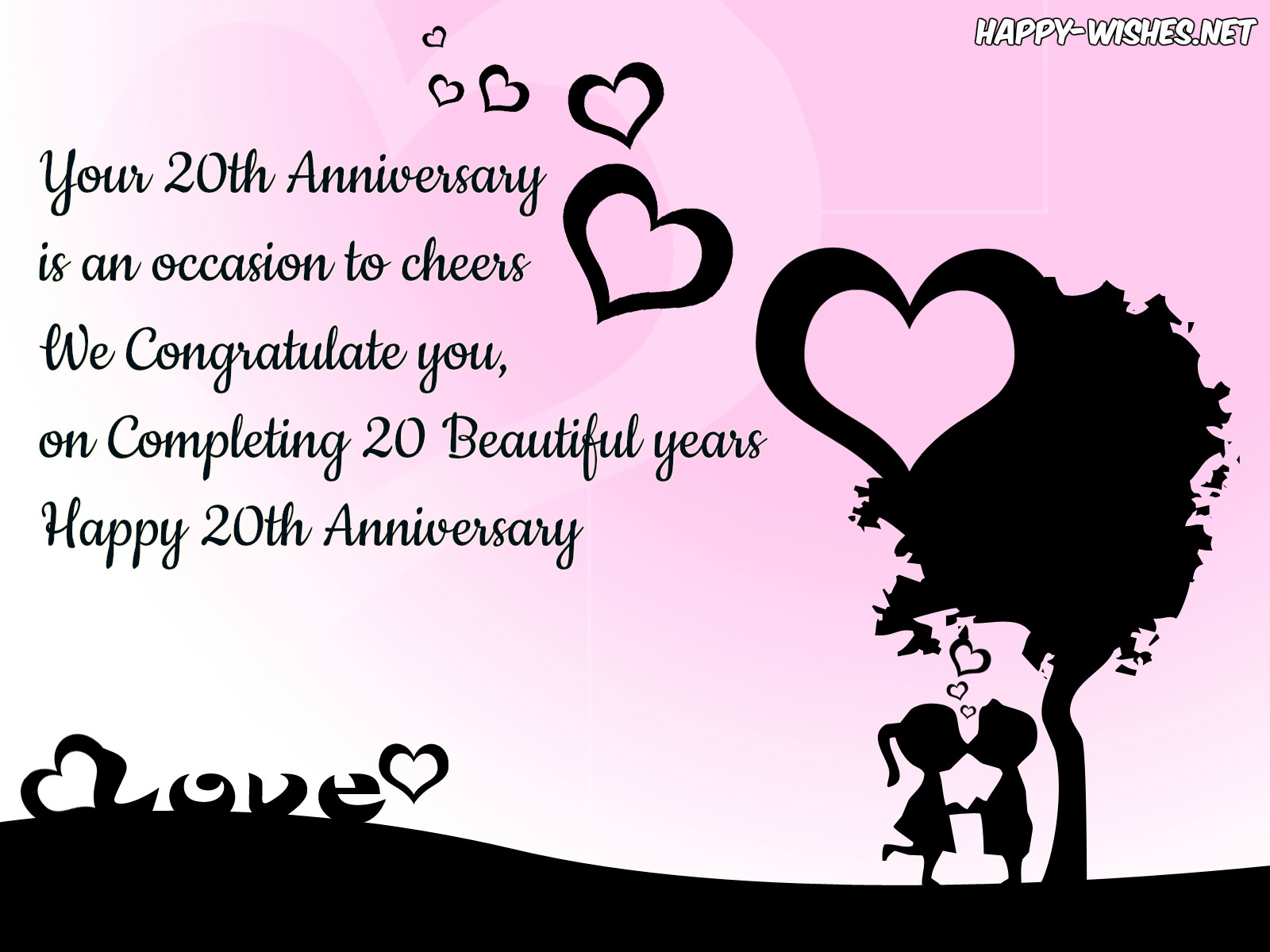Happy 20th Anniversary Wishes Quotes & Messages
