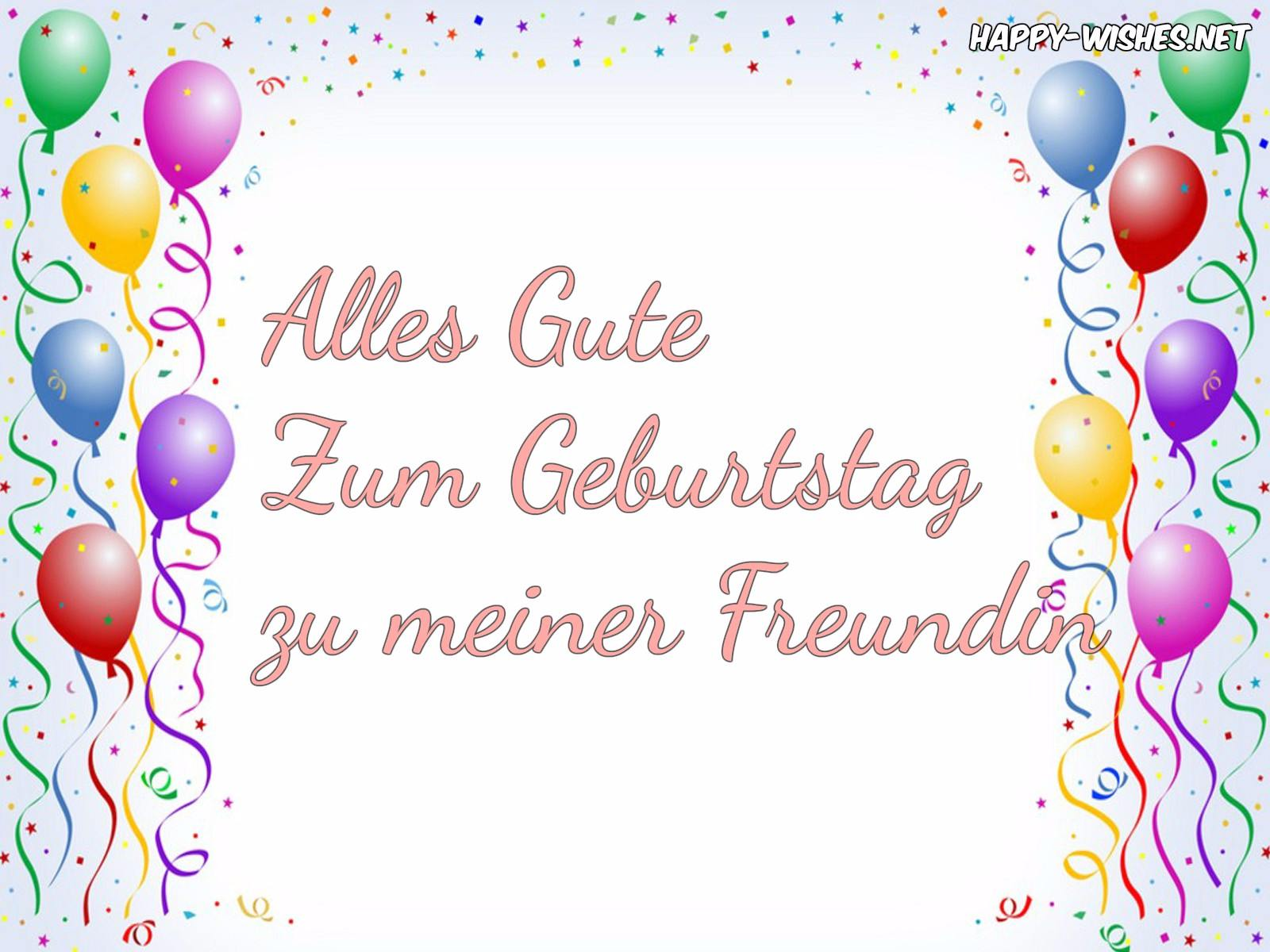 Happy Birthday Wishes In German