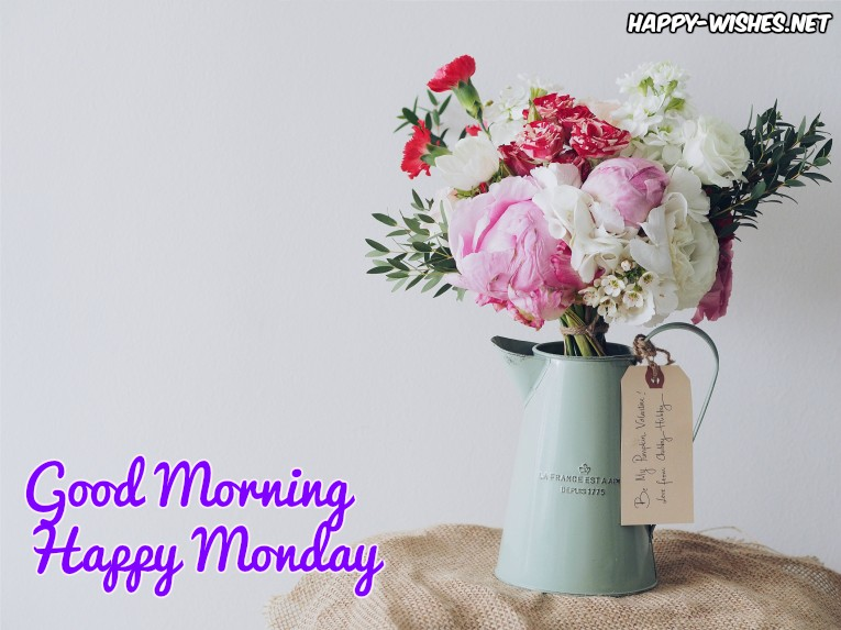 good morning Happy Monday flower images
