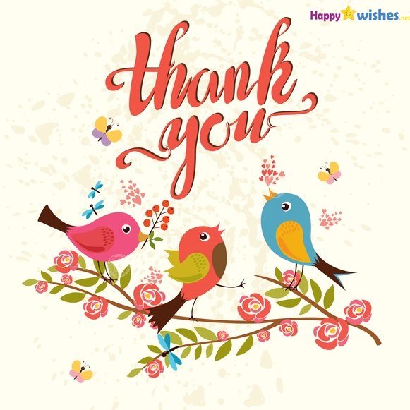 Image result for Thank you for birthday birds