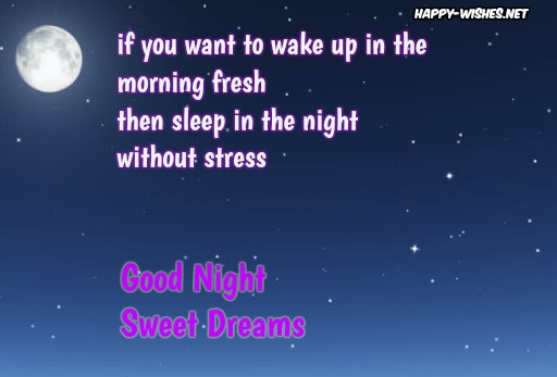 Best Good night sweet dreams messages