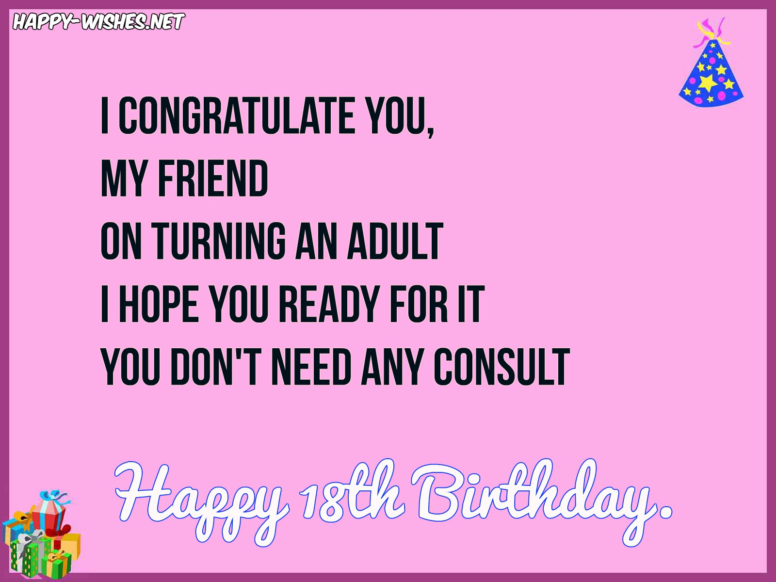 Pleasant Happy 18Th Birthday Wishes Quotes Messages And Images Funny Birthday Cards Online Aboleapandamsfinfo