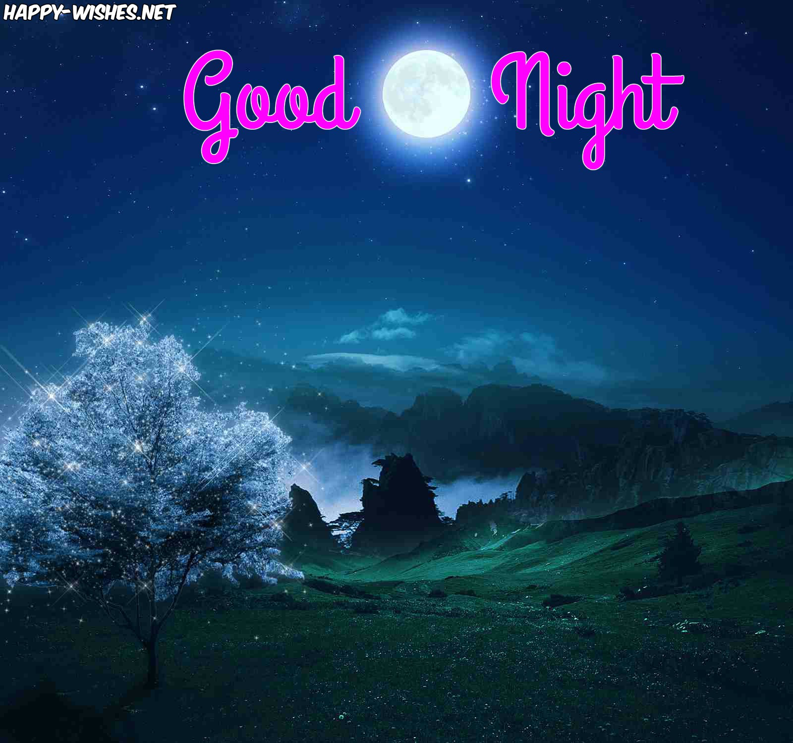 Beautiful moon Good night images