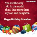 Happy Birthday messages for Grandson