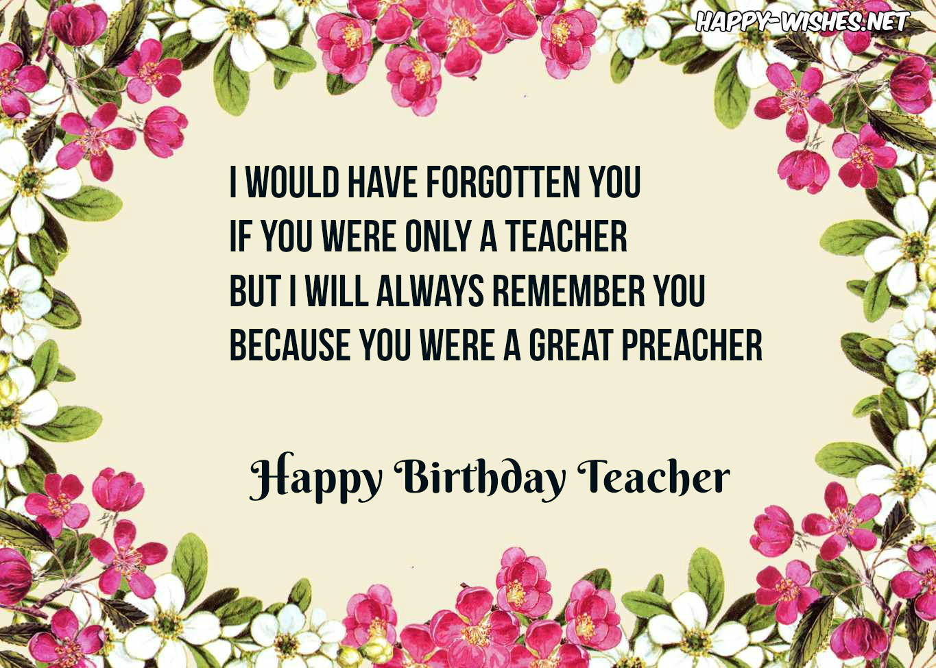 Happy Birthday Wishes For Teacher - Quotes & images