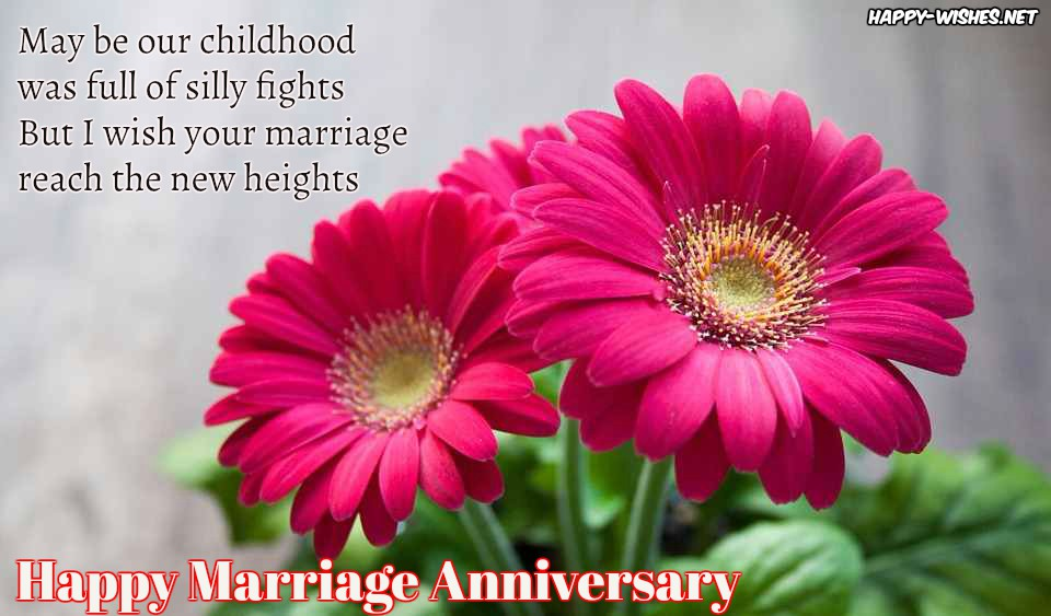 Happy Anniversary messages for sister