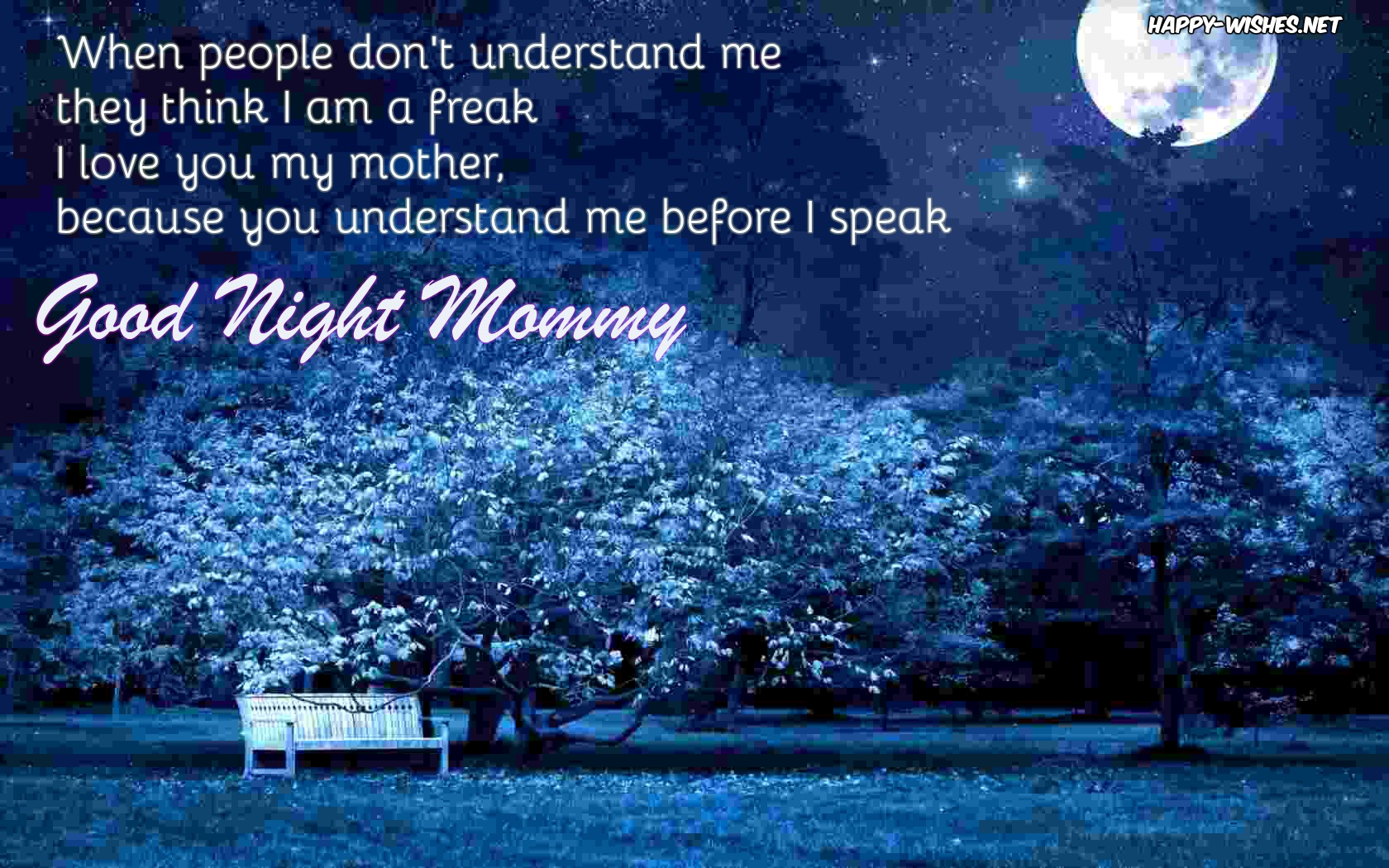 Good Night Mommy Wishes - Quotes & Messages