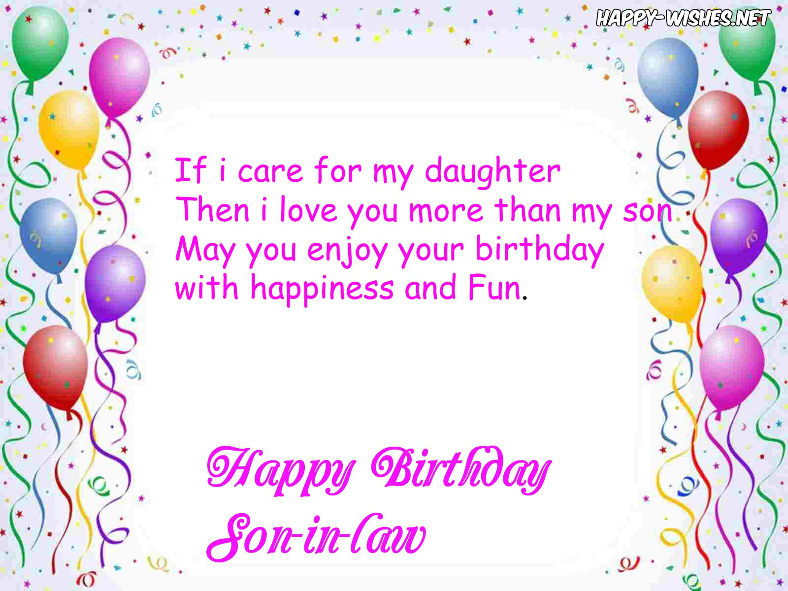 Swell Happy Birthday Wishes For Son In Law Quotes Messages Personalised Birthday Cards Veneteletsinfo