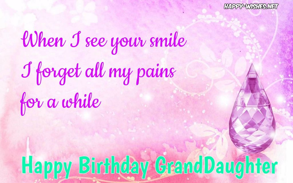 Happy Birthday wishes for Grand Daughter