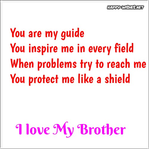 I Love my Brother Quotes [I love you Brother]