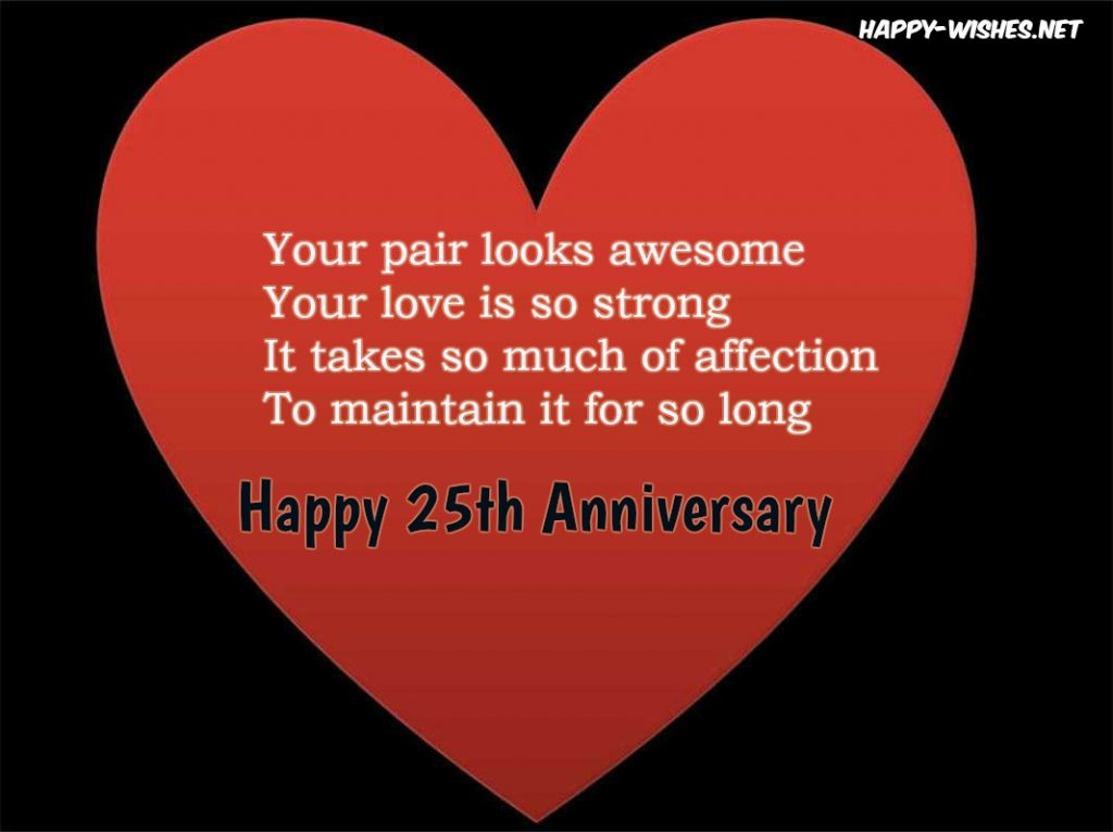 Happy 25th Anniversary Messages