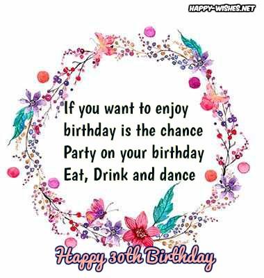 best 30th Birthday wishes