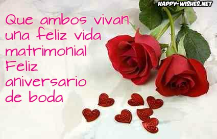 Best Happy Anniversary messages in spanish