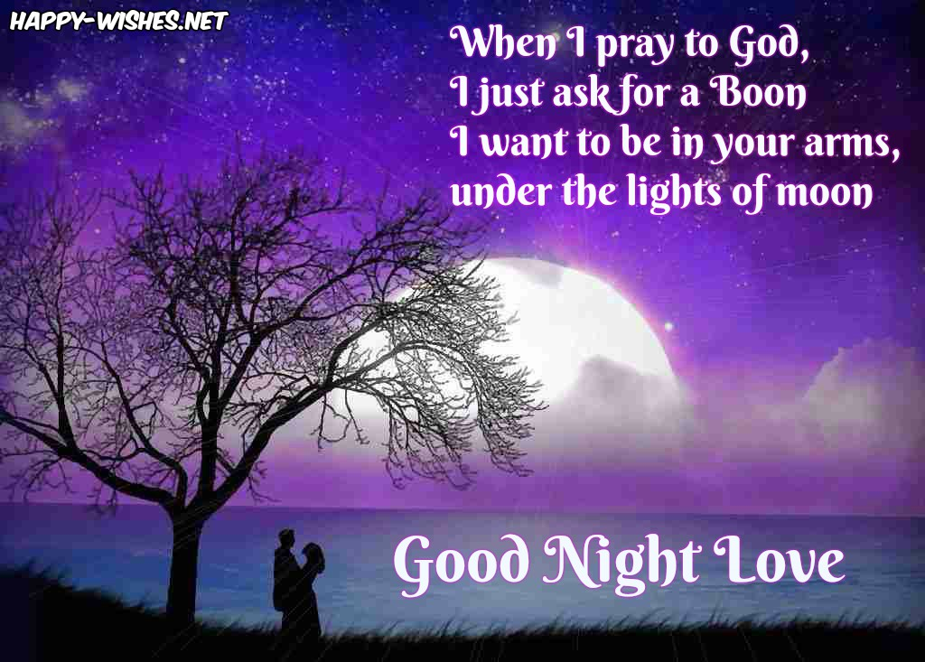 Best Romantic Good Night wishes
