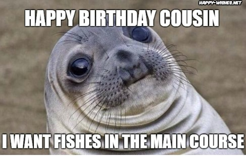 funny Happy birthday Wishes for cousin