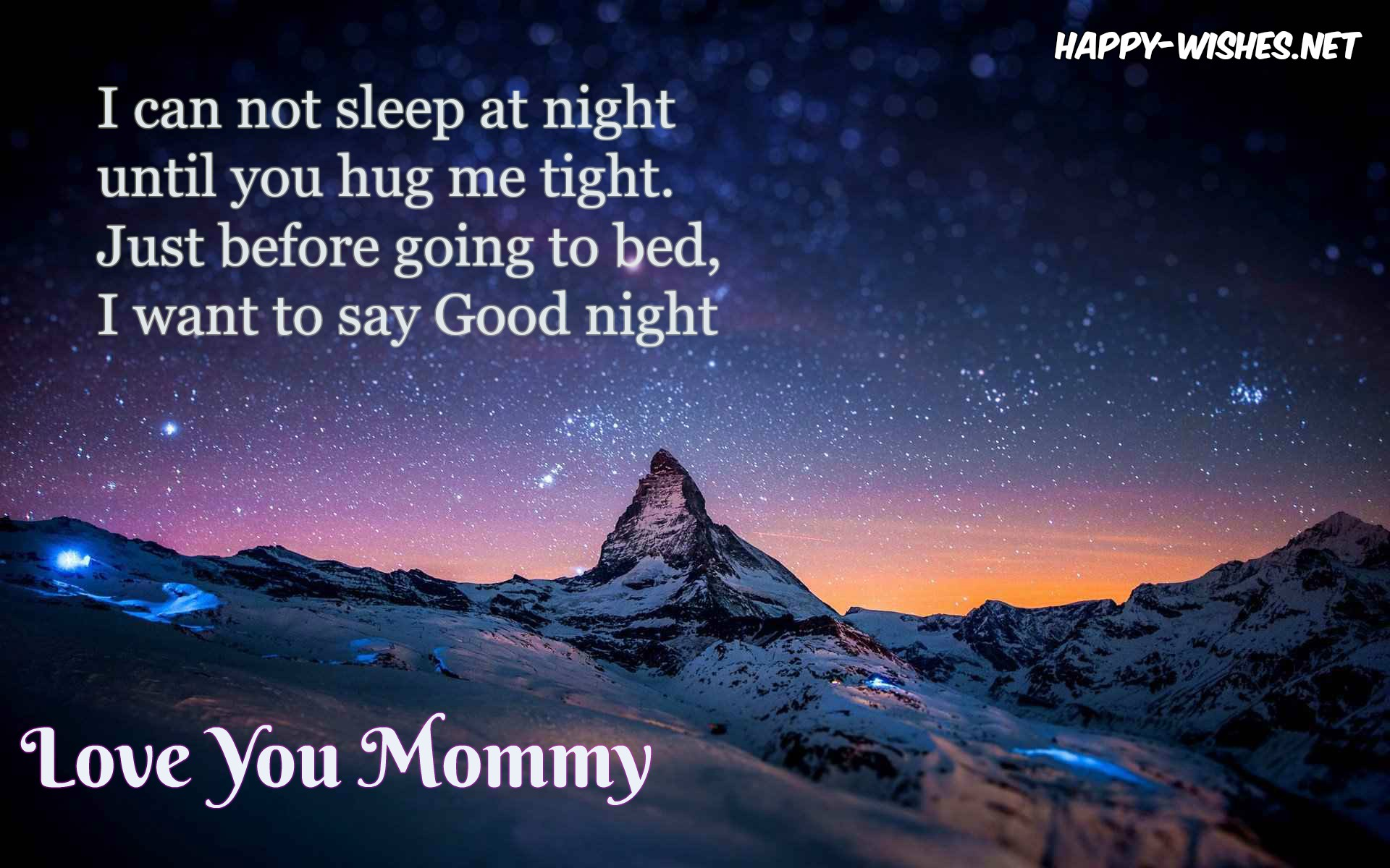Good Night wishes for mom