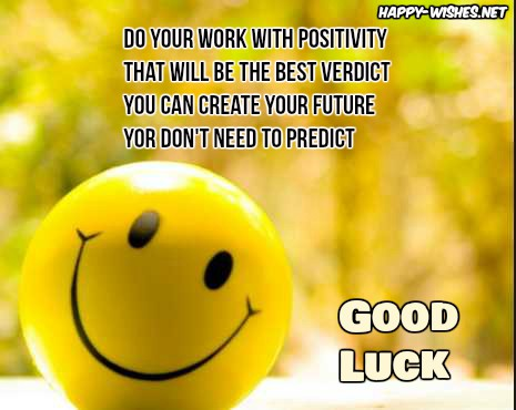 motivating Good Luck quotes