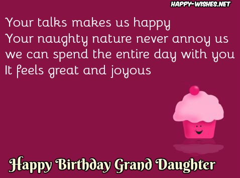 best Happy Birthday messages for Grand Daughter