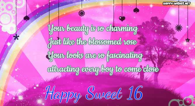 Happy Sweet 16 messages