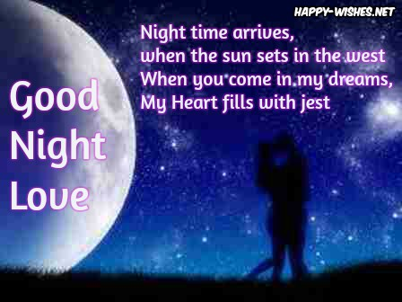 Best Romantic Good Night quotes for lover