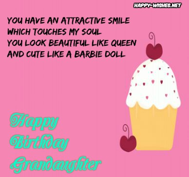 Happy Birthday messages for Grand Daughter