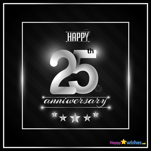 Happy 25th Anniversary Wishes Quotes Messages