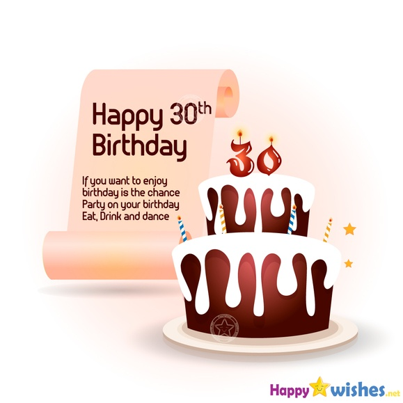 Amazing Happy 30Th Birthday Wishes Quotes And Messages Funny Birthday Cards Online Overcheapnameinfo