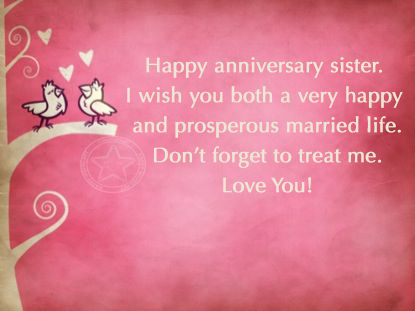 Happy Anniversary to my sweet sister