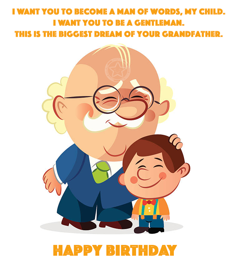 Happy Birthday inspirational quotes for grandson