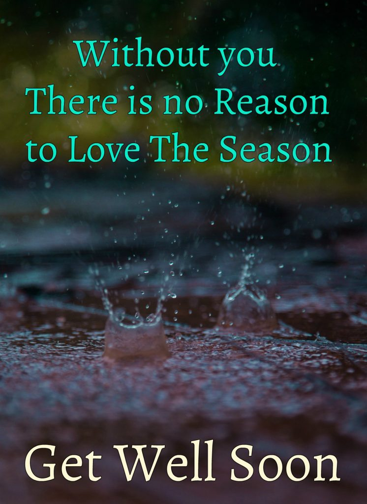 There is no Reason To Love The Season Without You Get Well Soon