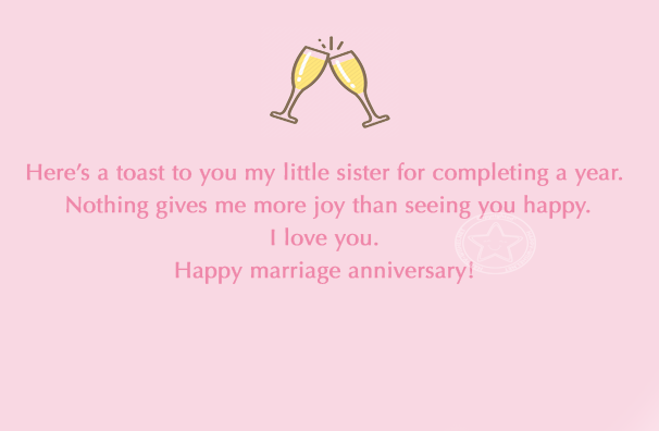 anniversary wishes to little sister